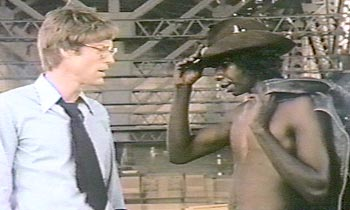 Gulpilil with Richard Chamberlain in The Last Wave.